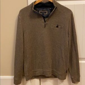 Ted Baker London 1/4 Zip Pull Over Sweater